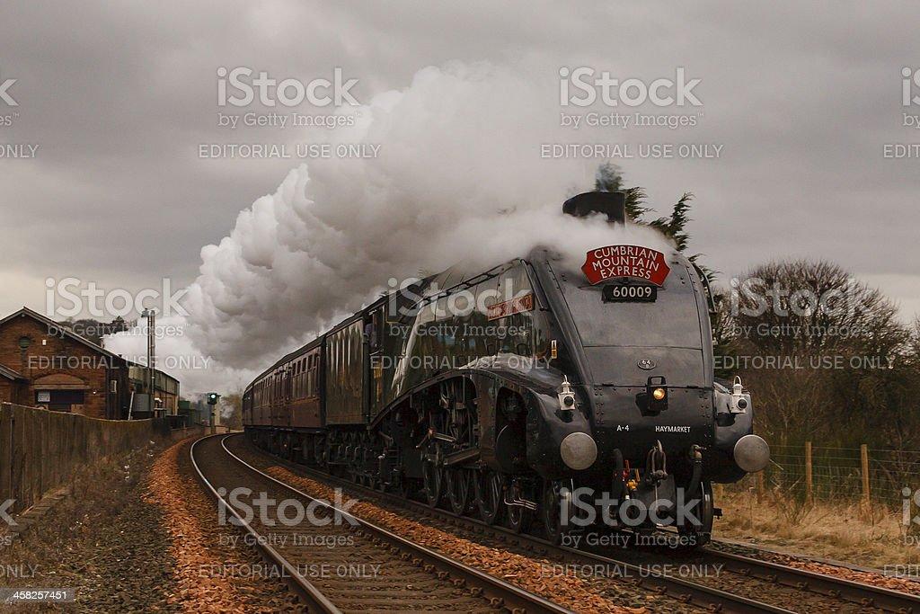 The Cumbrian Mountain Express royalty-free stock photo