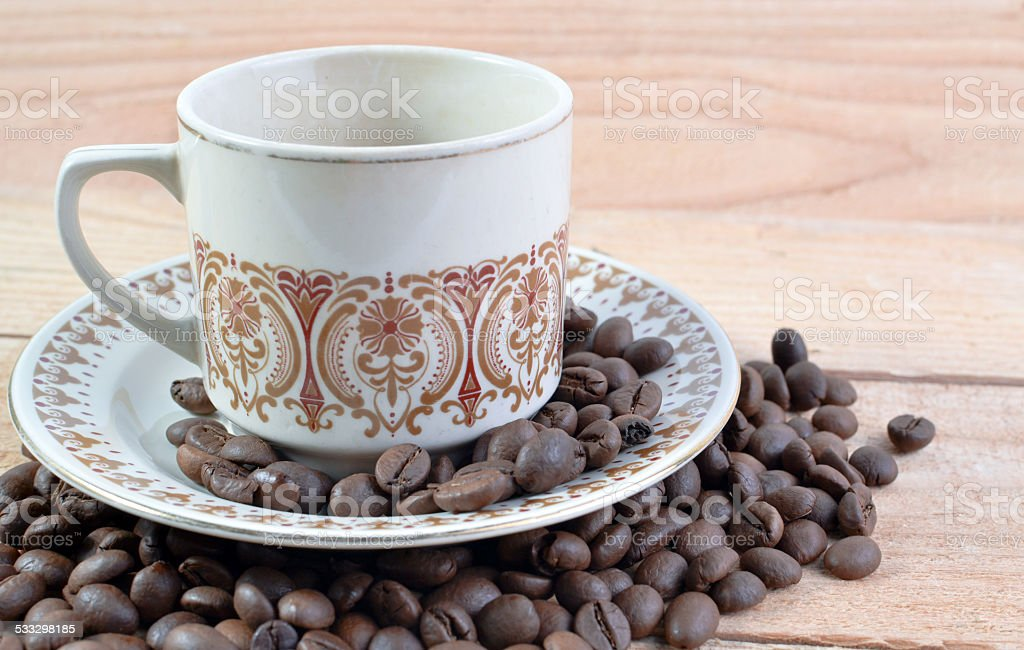 The Cup Of Coffee Bean stock photo