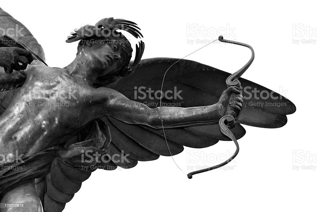 The Cupid Eros statue in Piccadilly Circus, London stock photo