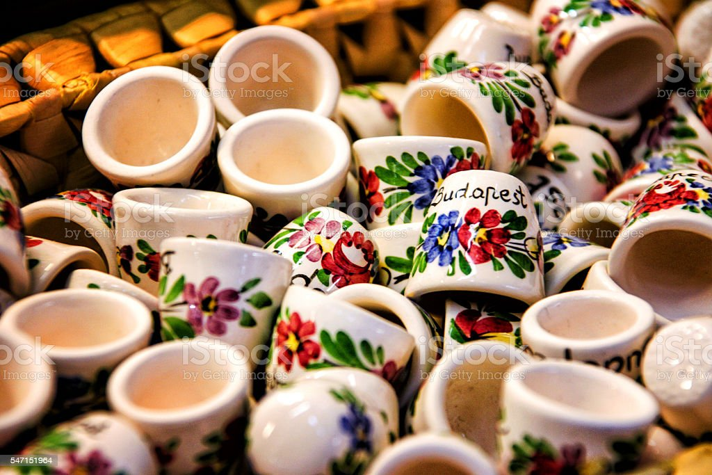 The cups Budapest stock photo