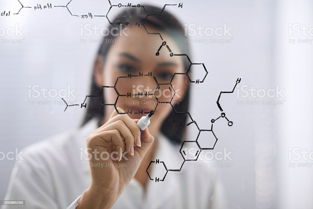 The cure is within her reach stock photo
