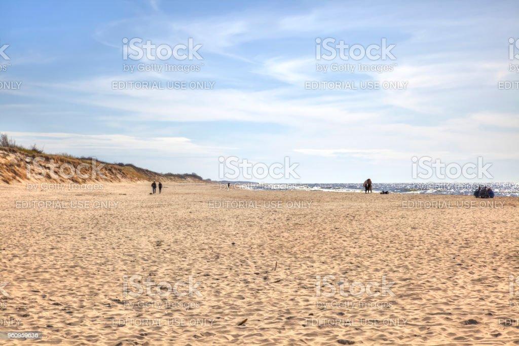 Die Kurische Nehrung. An der Ostseeküste - Lizenzfrei Bank Stock-Foto