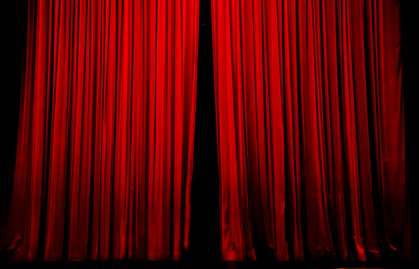 the curtain is opening, the show begins