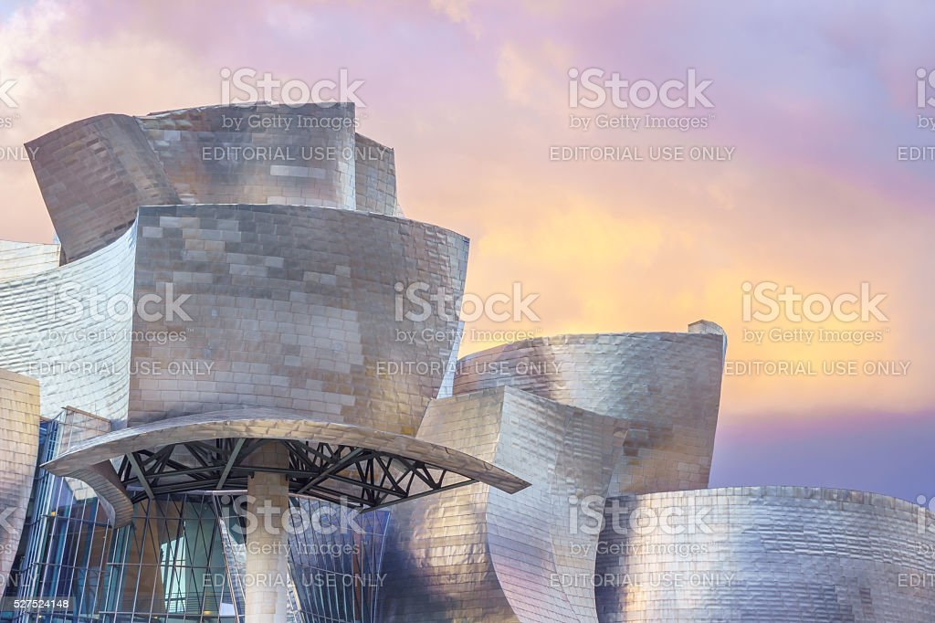 The curved shapes of the Guggenheim stock photo