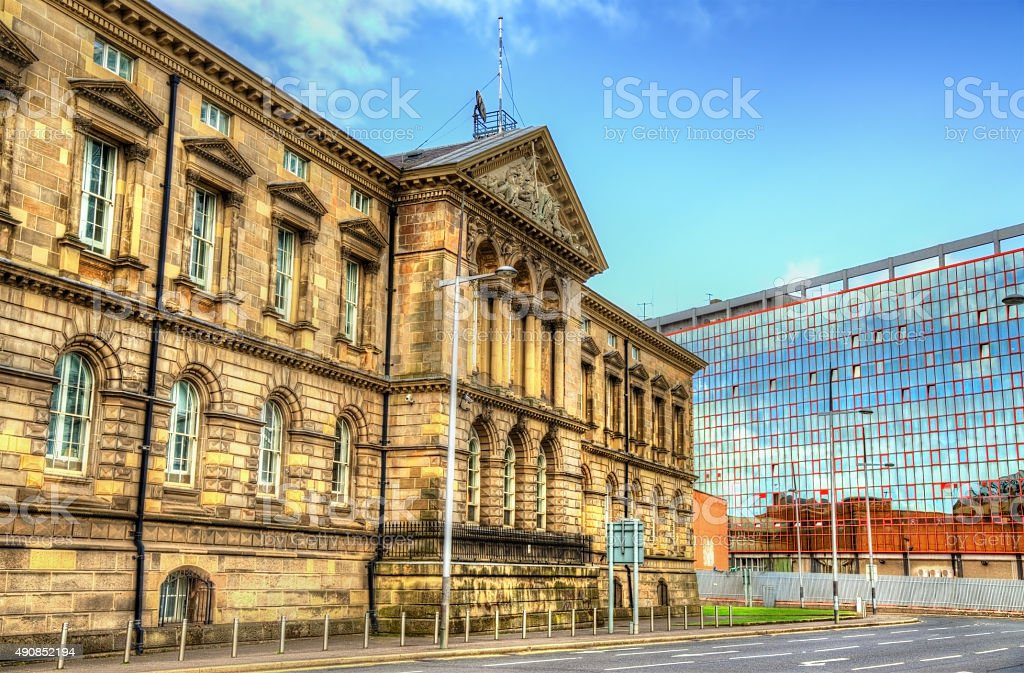 The Customs House in Belfast - Northern Ireland stock photo