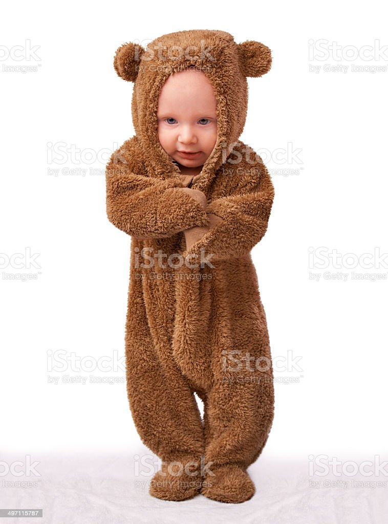 The cutest teddy you'll ever see stock photo