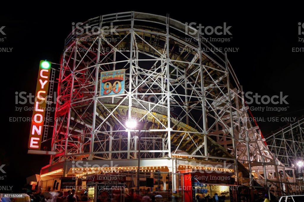 The Cyclone. Coney Island. stock photo
