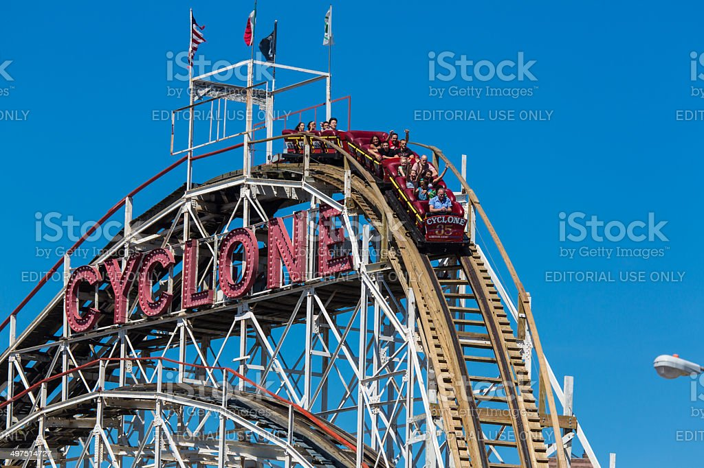 The Cyclone located at Luna Park in Coney Island, NY stock photo