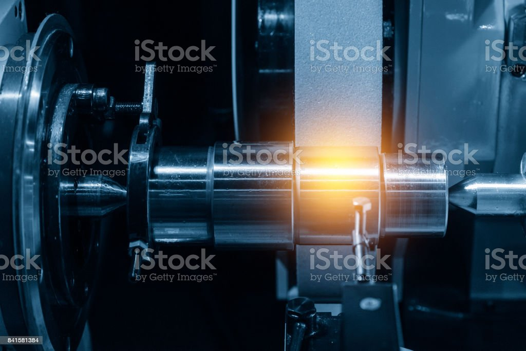 The cylindrical grinding machine stock photo