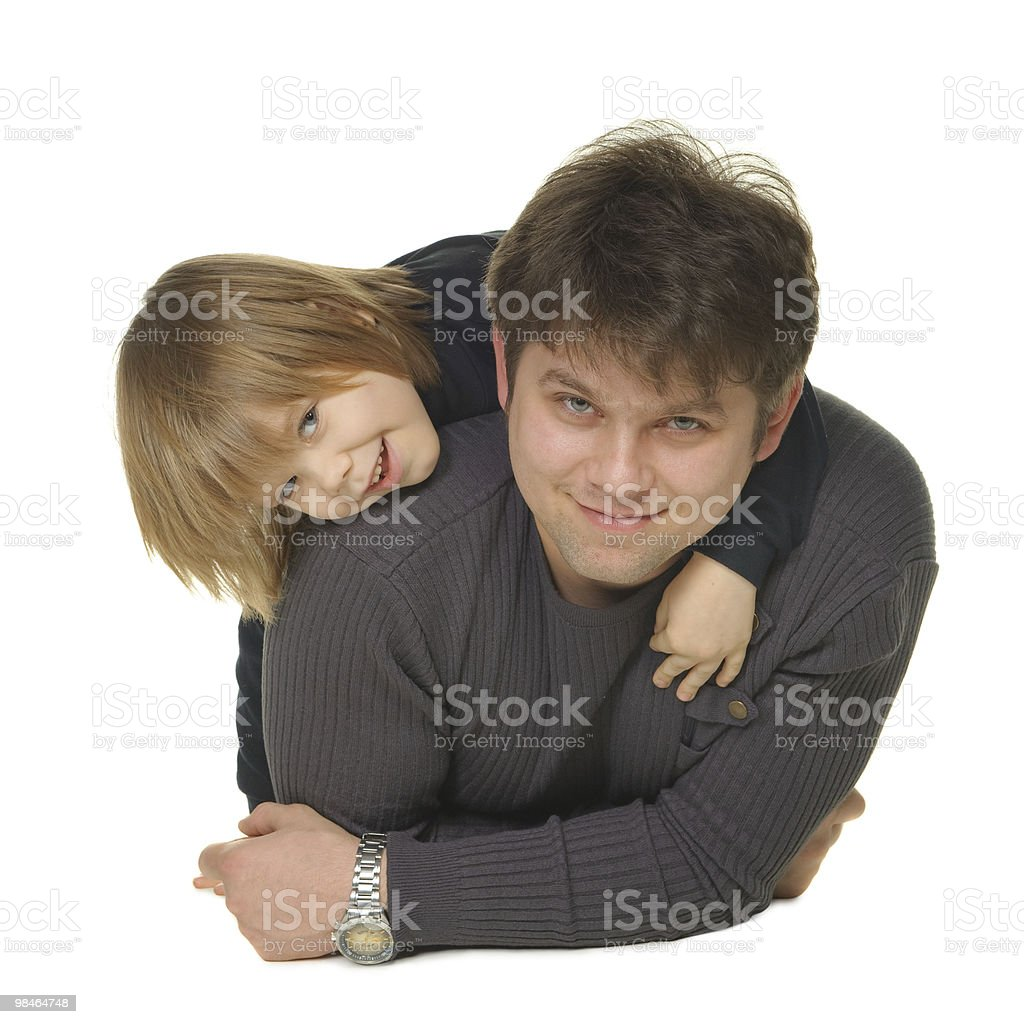 The daddy with son royalty-free stock photo