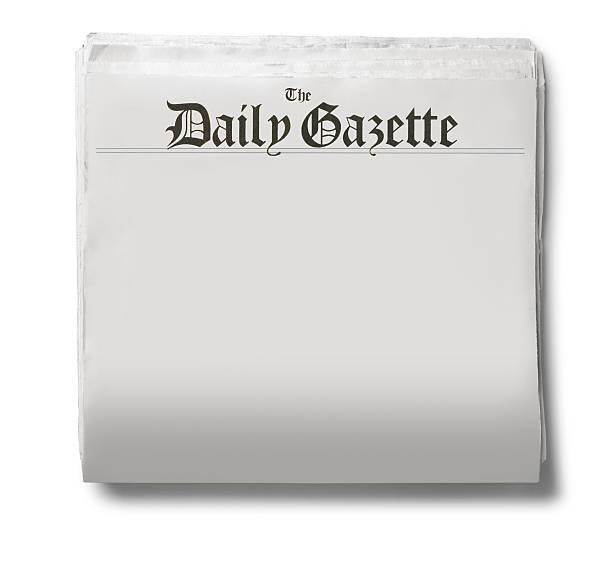 Le journal tous les jours, journal sur fond blanc - Photo