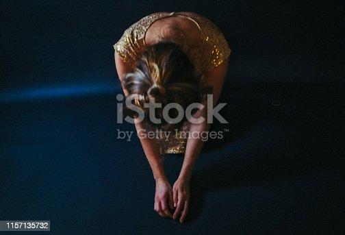 Portrait, woman, vintage, dance,