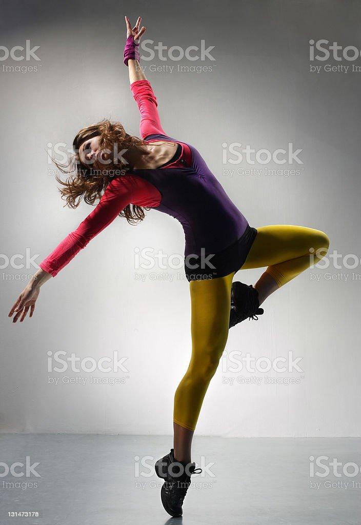 the dancer beautiful modern ballet dancer posing on grey background http://www.ayakovlev.com/lb/jump.jpg Acrobat Stock Photo