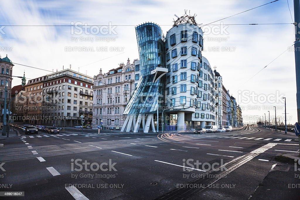 The Dancing House in Prague, Czech Republich stock photo