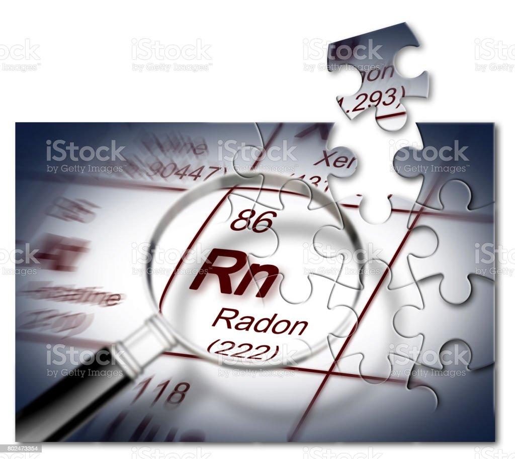 Fotografa de el peligro del gas radn imagen de concepto con la el peligro del gas radn imagen de concepto con la tabla peridica de los elementos urtaz Choice Image