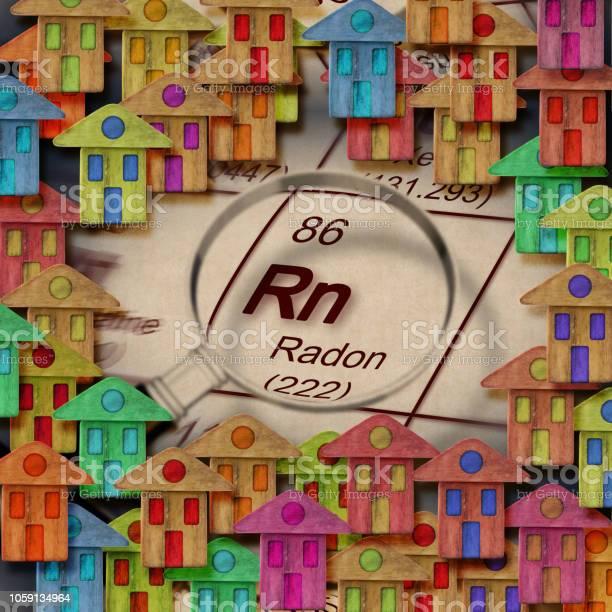 Het Gevaar Van Radongas In Onze Huizen Concept Afbeelding Stockfoto en meer beelden van Aardgas