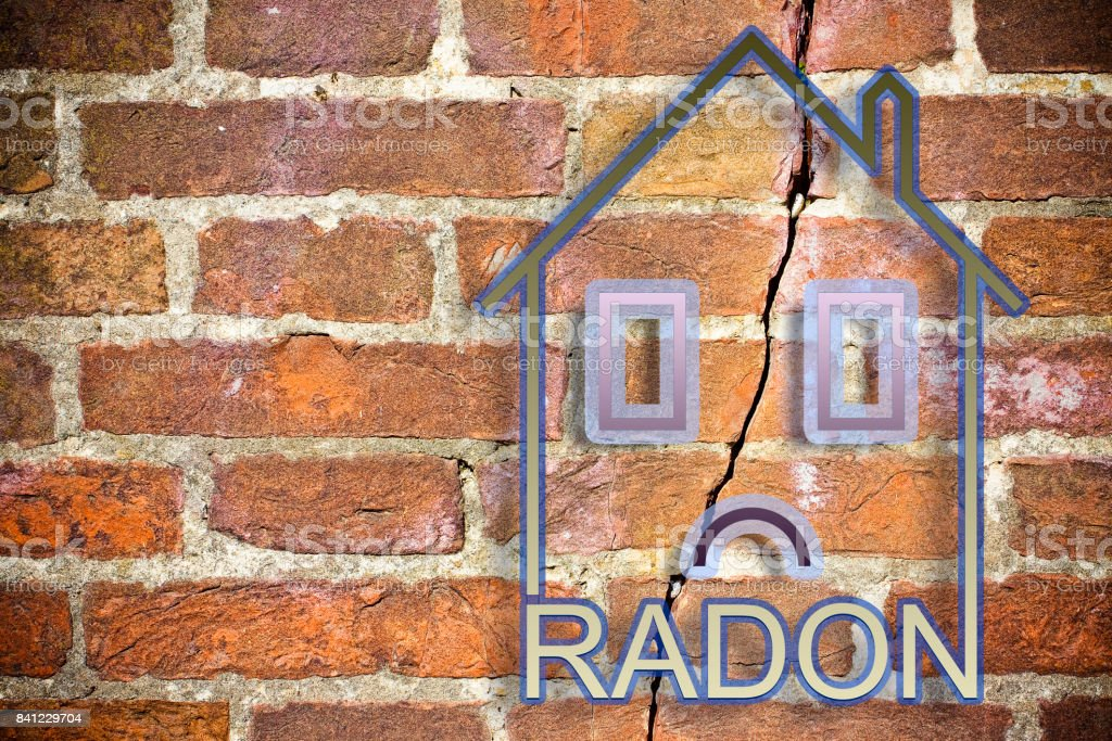 The danger of radon gas in our homes - concept image with copy space stock photo