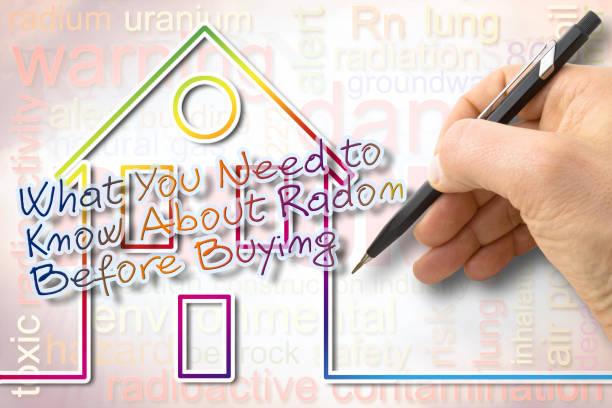 """het gevaar van radongas in onze huizen - concept afbeelding met tekst """"what you need to""""nknow over radon alvorens te kopen"""" - radon test stockfoto's en -beelden"""