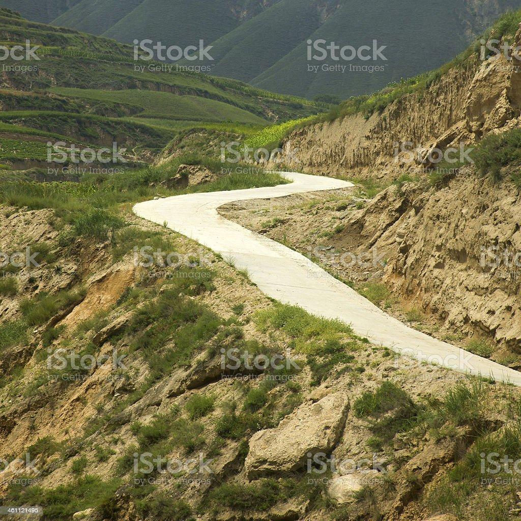 The dangerous road stock photo