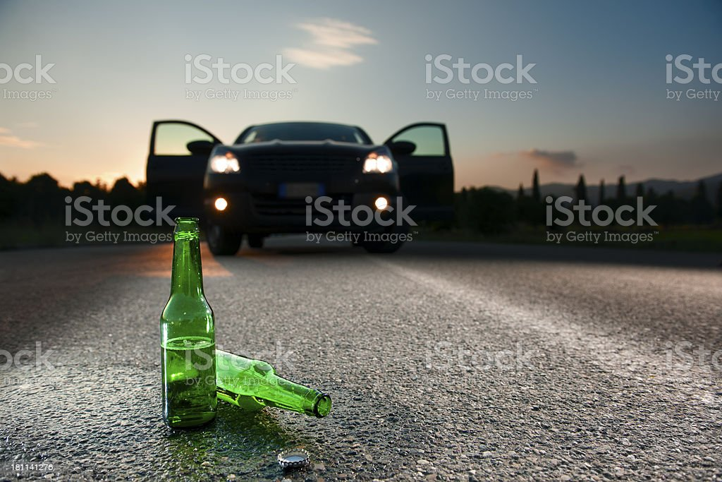 The Dangers Of Alcohol.Color Image royalty-free stock photo