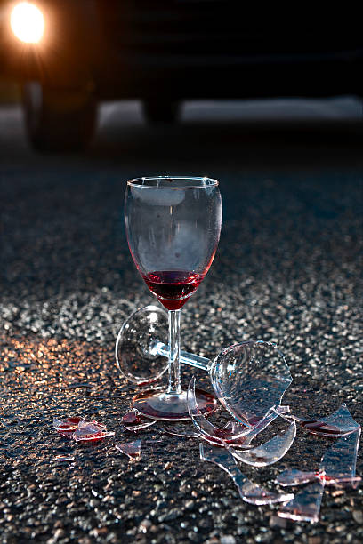 The Dangers Of Alcohol.Color Image stock photo