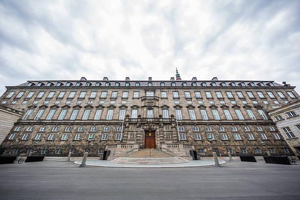 The Danish parliament Christiansborg stock photo