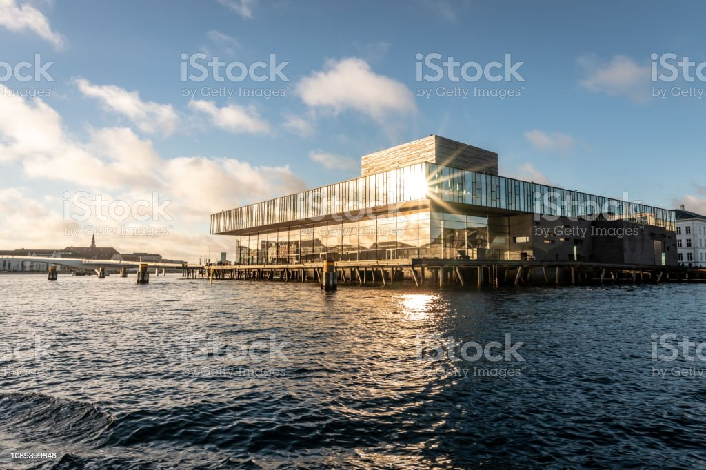 The Danish Playhouse theatre from the canal in Copenhagen, Denmark stock photo