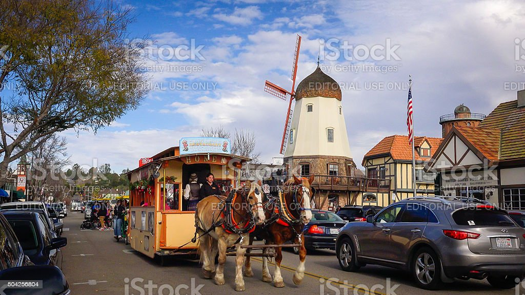 The Danish Styled Town of Solvang in California stock photo