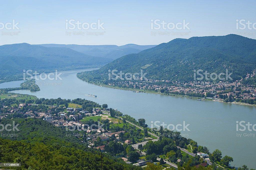 The Danube curve stock photo