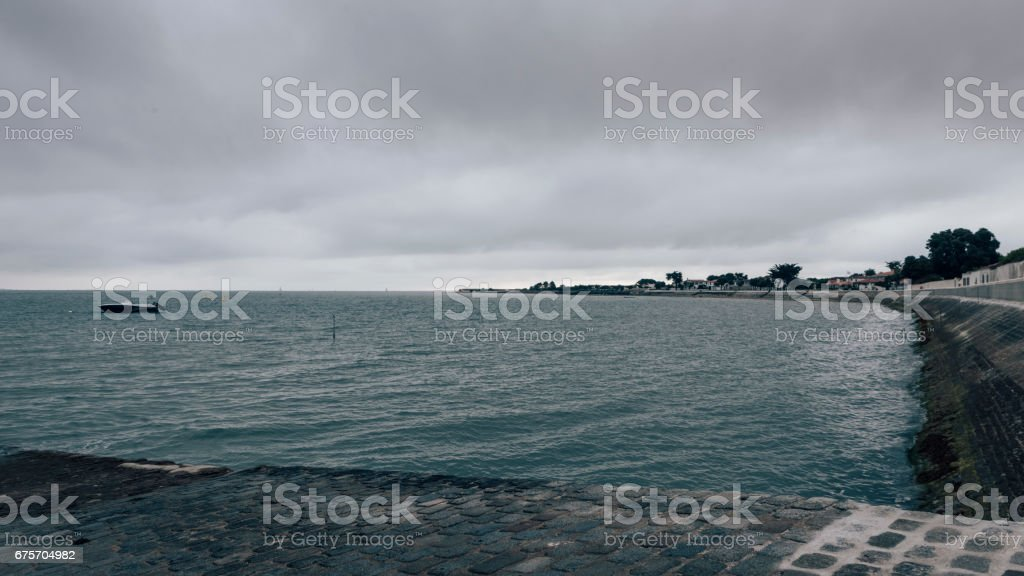 La Flotte dark ambiance royalty-free stock photo