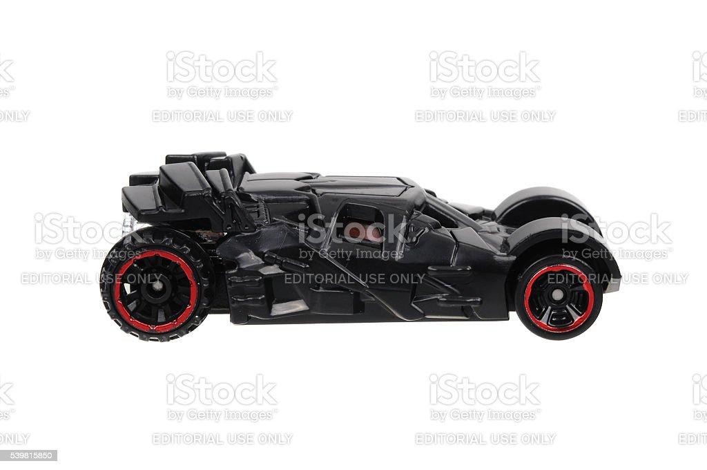 The Dark Knight Batmobile Hot Wheels Diecast Toy Car stock photo