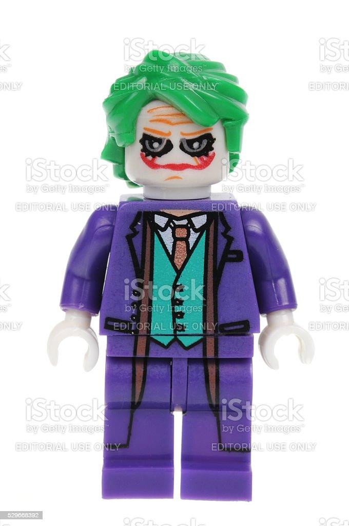 The Dark Knight Joker Minifigure stock photo