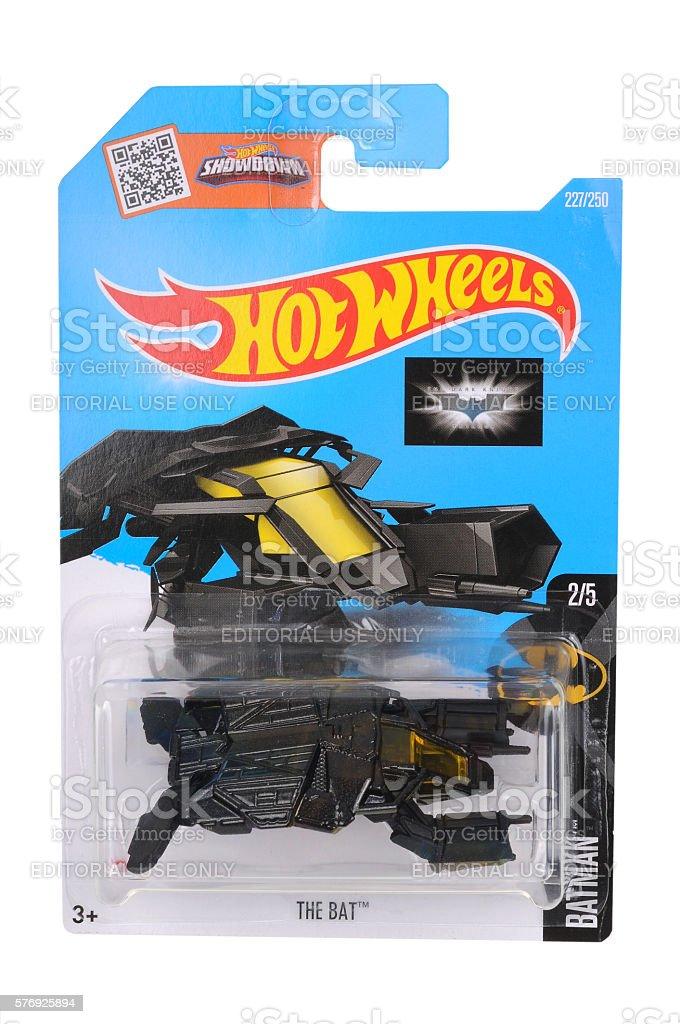 The Dark Knight The Bat Hot Wheels Diecast Toy Vehicle stock photo