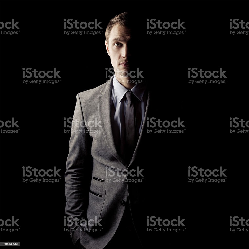The dark side of human.Psychological portrait stock photo