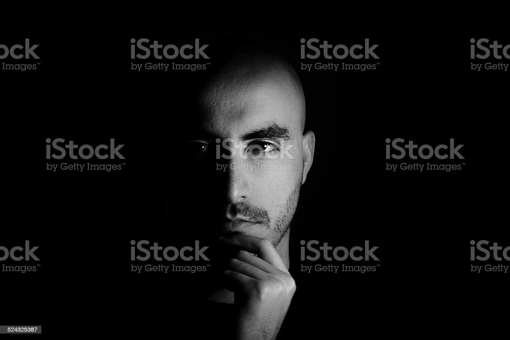The dark side of me stock photo