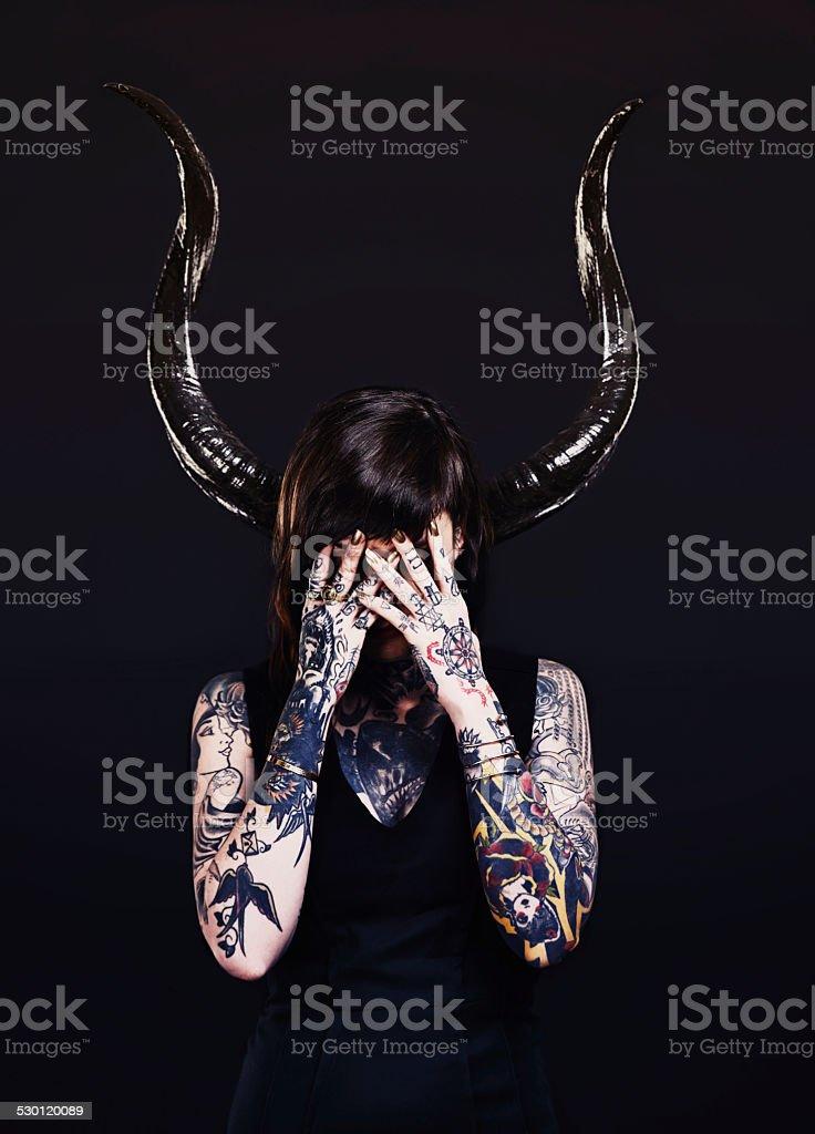 The dark side stock photo