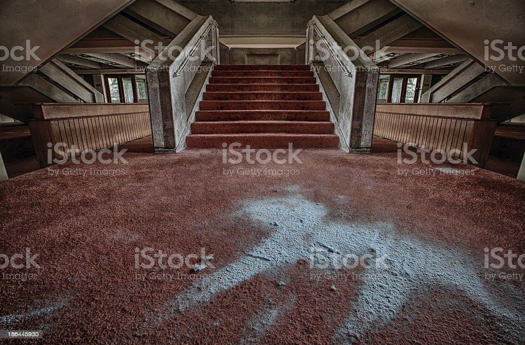The dark steps royalty-free stock photo
