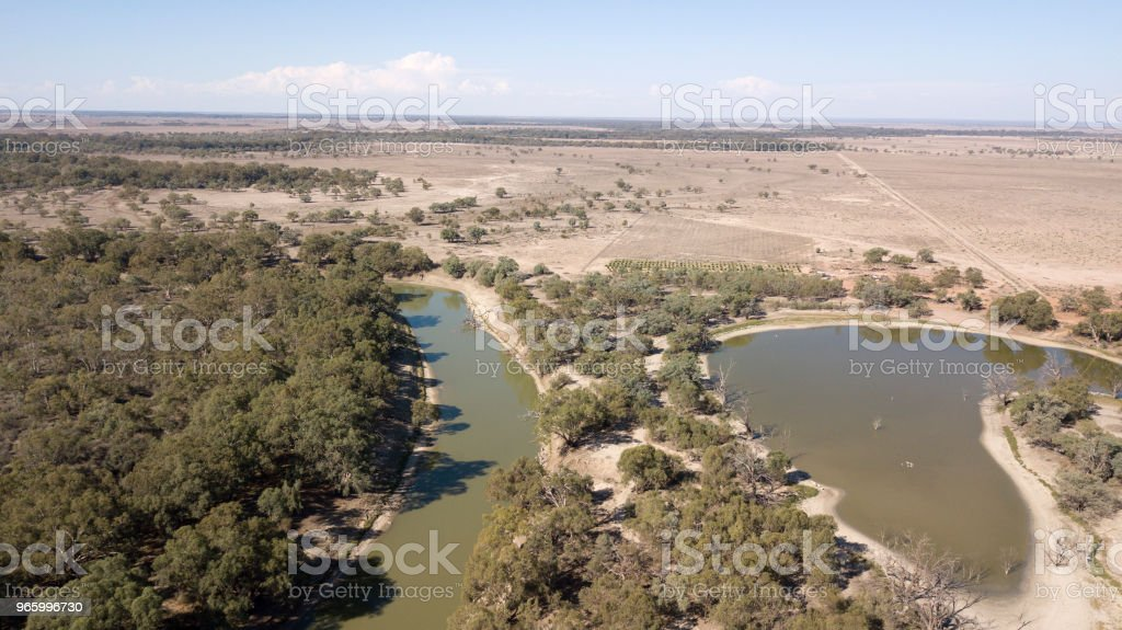 The Darling river - Royalty-free Aerial View Stock Photo