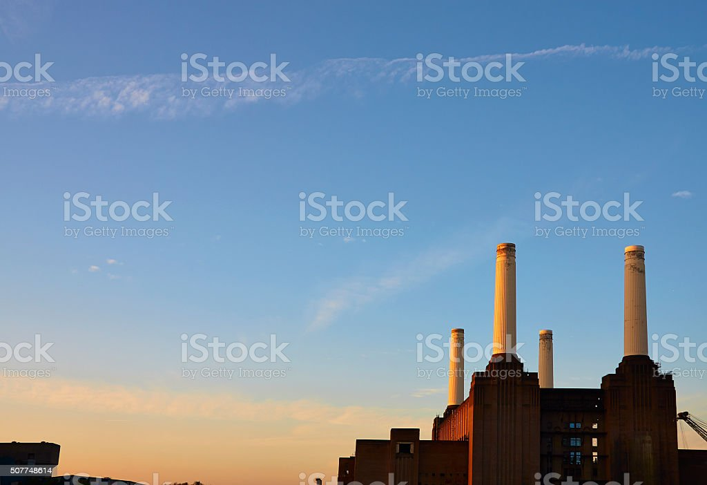 The Dawn And Battersea Power Station stock photo