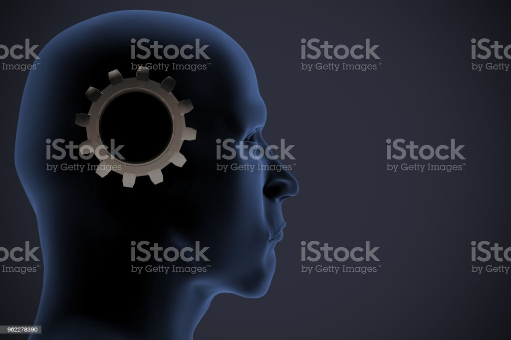 The dawn of artificial intelligence as 3d rendering. stock photo