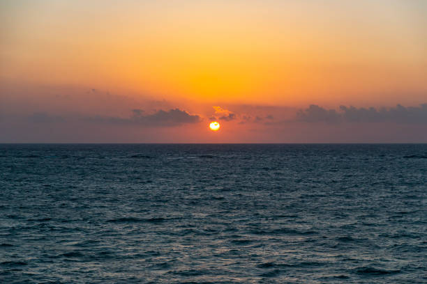 The dawns in the beach of Tulum, Quintana Roo, Mexico stock photo