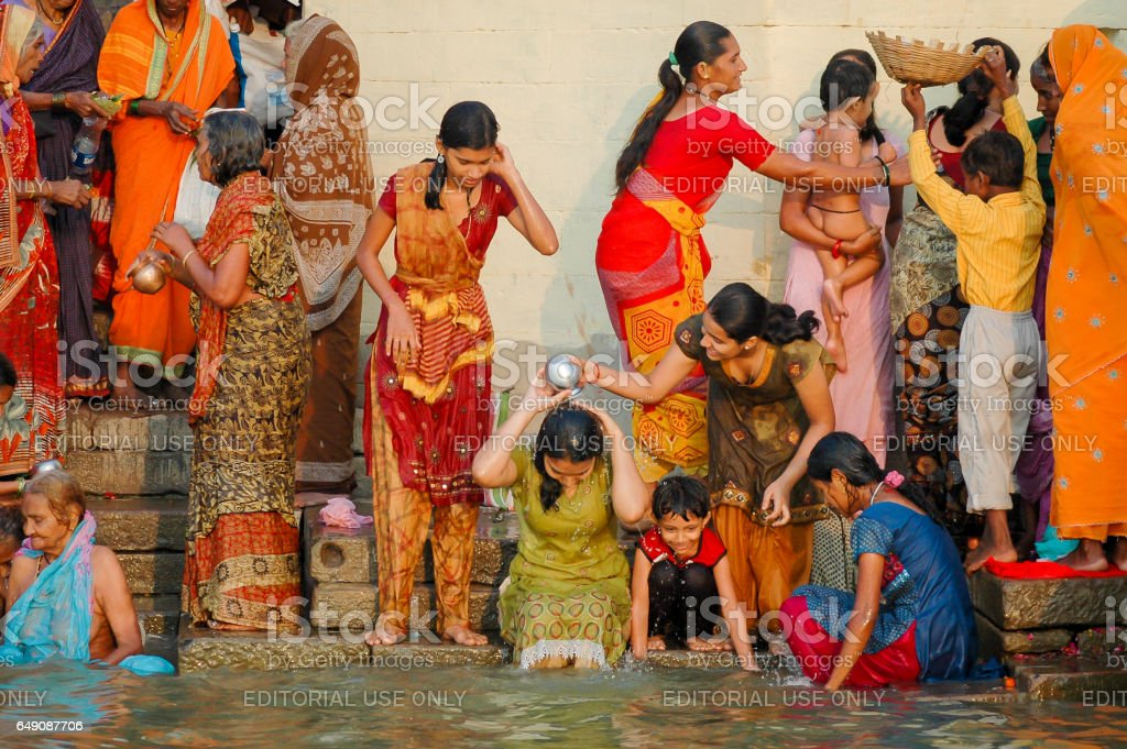 The day has begun, Varanasi, India stock photo