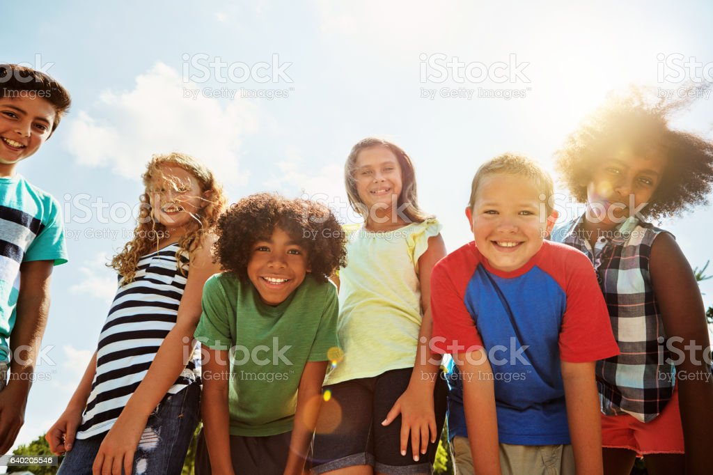 The days are just better when we're all together stock photo