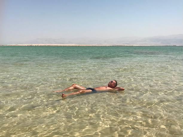 The Dead Sea in Israel. stock photo