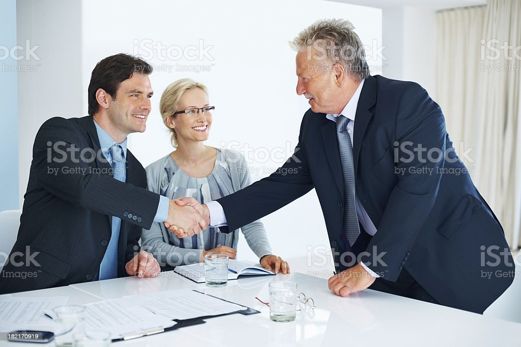 The deal is sealed stock photo