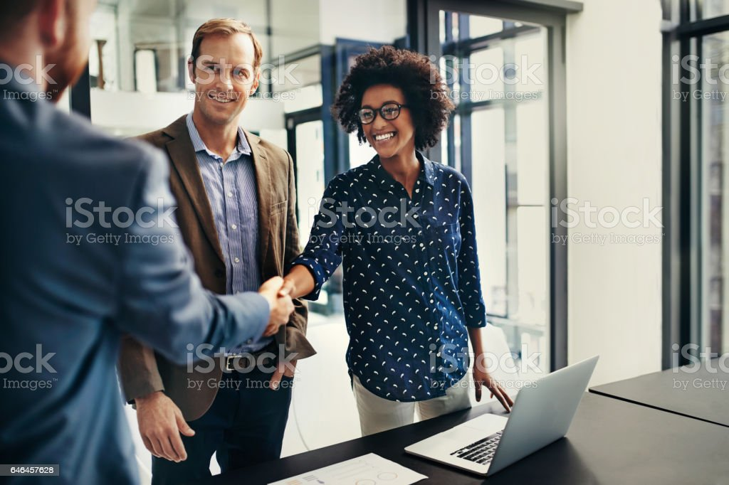 The deal makers stock photo
