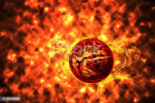 The death of a star. ( supernova)