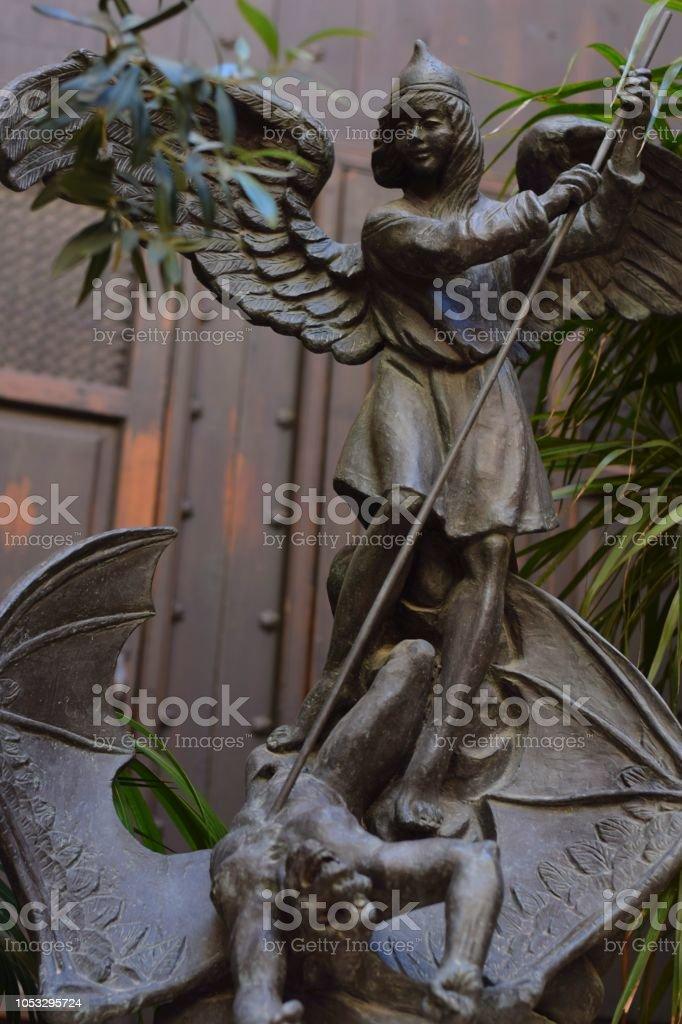 Der Tod des Drachen von Saint Michael der Erzengel – Foto