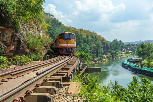 The Death railway in Thailand stock photo