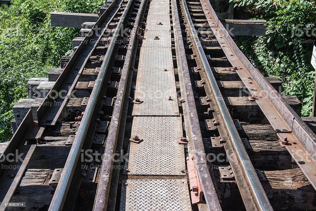 The Death Railway Thailand-Burma railway on World War II. stock photo